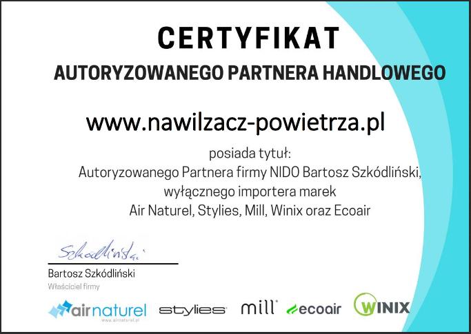 Certyfikat partnera handlowego
