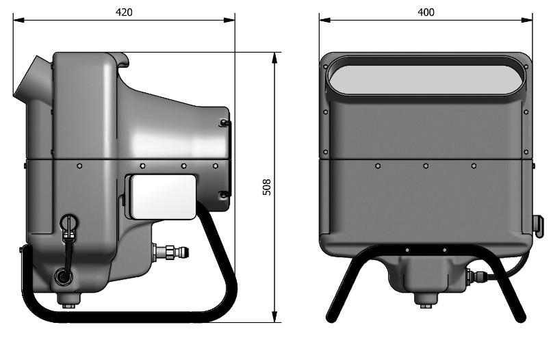 Franco PH nawilżacz powietrza - wymiary