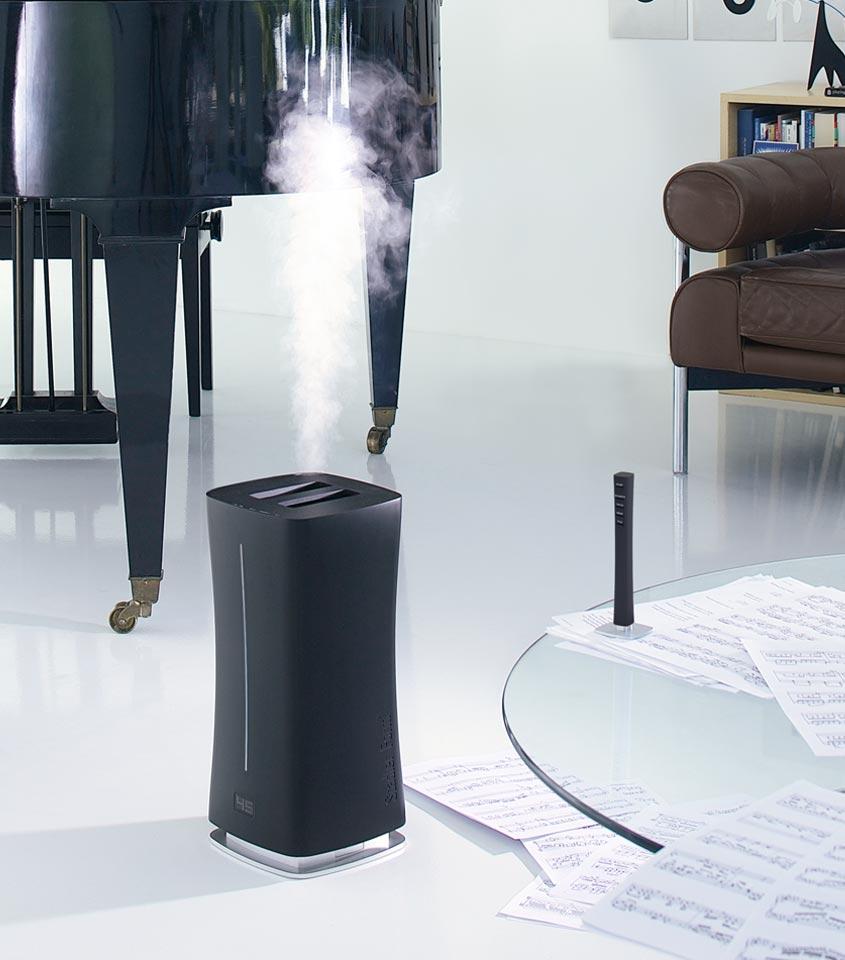 Nawilżacz powietrza ultradźwiękowy Stadler Form Eva czarny